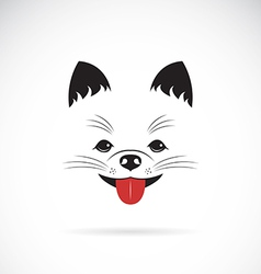 image of an pomeranian dog vector image vector image