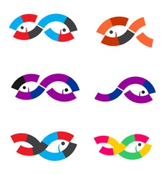 Logo fish abstract vector
