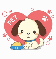 lovely dog vector image