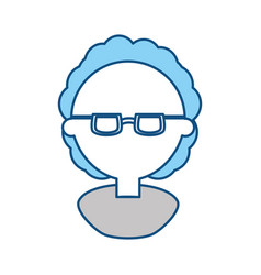 Man with glasses cartoon vector