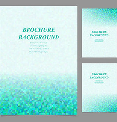 Modern geometric brochure template design vector