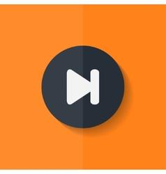 Next track web iconMedia player Flat design vector image vector image