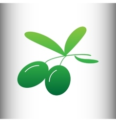 Olives sign Green gradient icon vector image