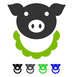 Pig reward flat icon vector