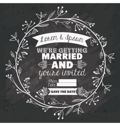 Rustic design black and white vector