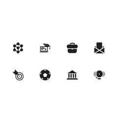 set of 8 editable teach icons includes symbols vector image vector image