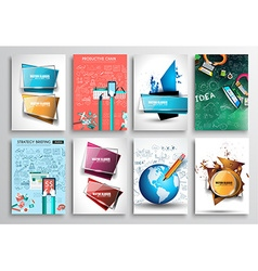 Set of Flyer Design Infographics Brochure Designs vector image vector image