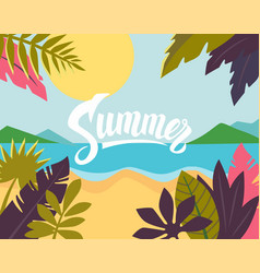 summertime on the beach vector image