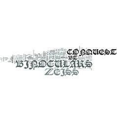 Zeiss binoculars p bt text word cloud concept vector