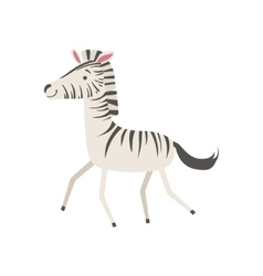 Zebra stylized childish drawing vector