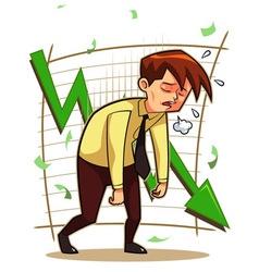 Distressed Businessman vector image