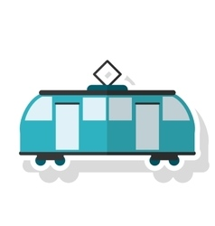 Isolated tram vehicle design vector