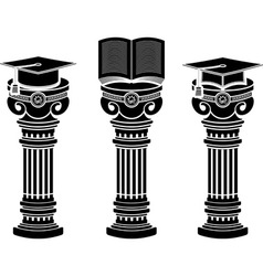 Pedestals of education vector