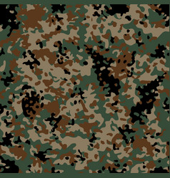 Woodland flectarn camouflage seamless patterns vector