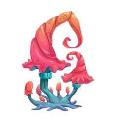 fantasy cartoon mushroom vector image