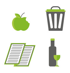 Recycling nature icons waste sorting environment vector