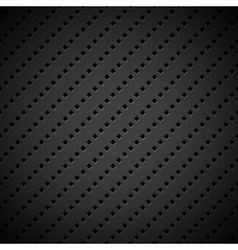 Black Background with Perforated Pattern vector image