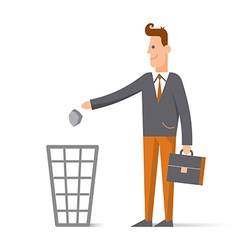 Character cartoon businessman concept man flat vector