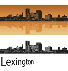 Lexington skyline in orange background vector