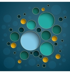 Infographics colorful circles scheme design on vector