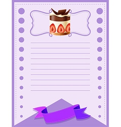Line paper design with cake vector