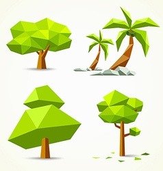 Trees geometric collections design vector