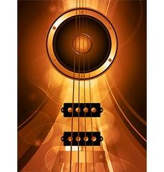 Air bass guitar and loudspeaker vector