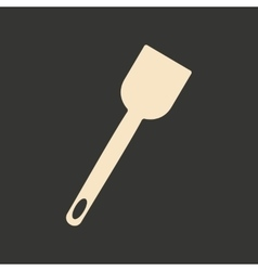 Flat in black and white mobile application kitchen vector