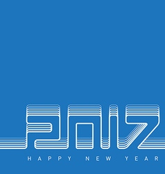 Happy new year 2017 creative greeting card design vector