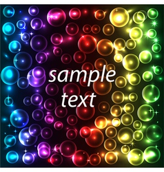 abstract background bright neon with bubbles on a vector image vector image