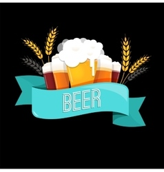 Beer festival event poster menu and background vector
