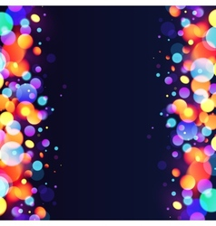 Bright colorful bokeh light effect abstract vector image vector image