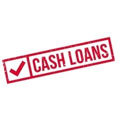 Cash Loans rubber stamp vector image