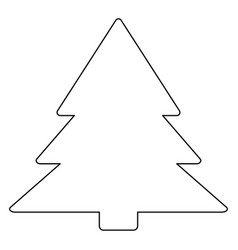 Christmas tree the black color icon vector