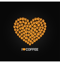 coffee beans love concept background vector image vector image