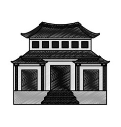 Culture japanese temple building vector