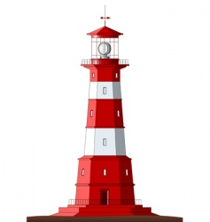 detailed lighthouse isolated on white vector image