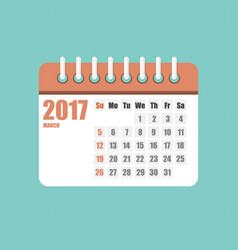 flat calendar year 2017 set vector image vector image