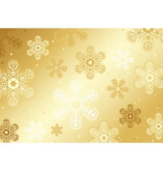 Gold Christmas Snowflakes vector image