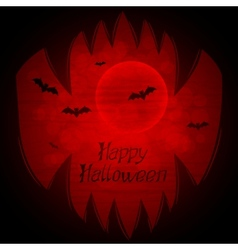 Halloween background with sharp teeth vector image vector image
