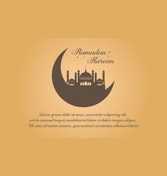 Happy ramadan kareem greeting card vector