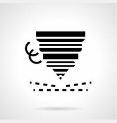High precision laser cutting glyph icon vector