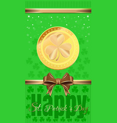 holiday flyer for st patricks day vector image