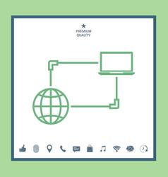 Internet connection data exchange transfer vector