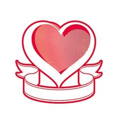 Loving heart symbol vector