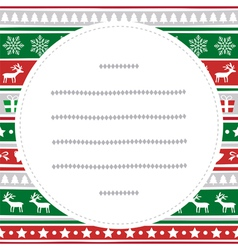 Merry Christmas greeting card54 vector image vector image