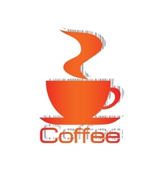 Orange cup bar code vector image