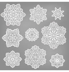 paper cut snowflakes vector image vector image