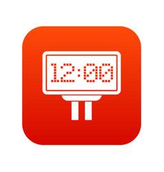 Scoreboard icon digital red vector