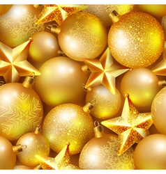 Seamless background with Christmas balls vector image vector image